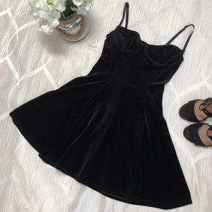 American Apparel Velvet Bustier Dress 👗✨